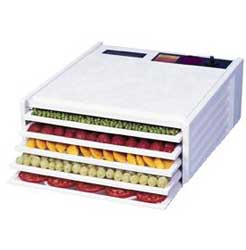 Excalibur 5 Tray Dehydrator 4500W - White (Without Timer)