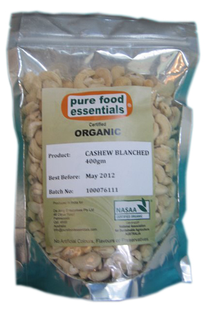 Cashew Nuts. Raw. Chemical Free. 400g.