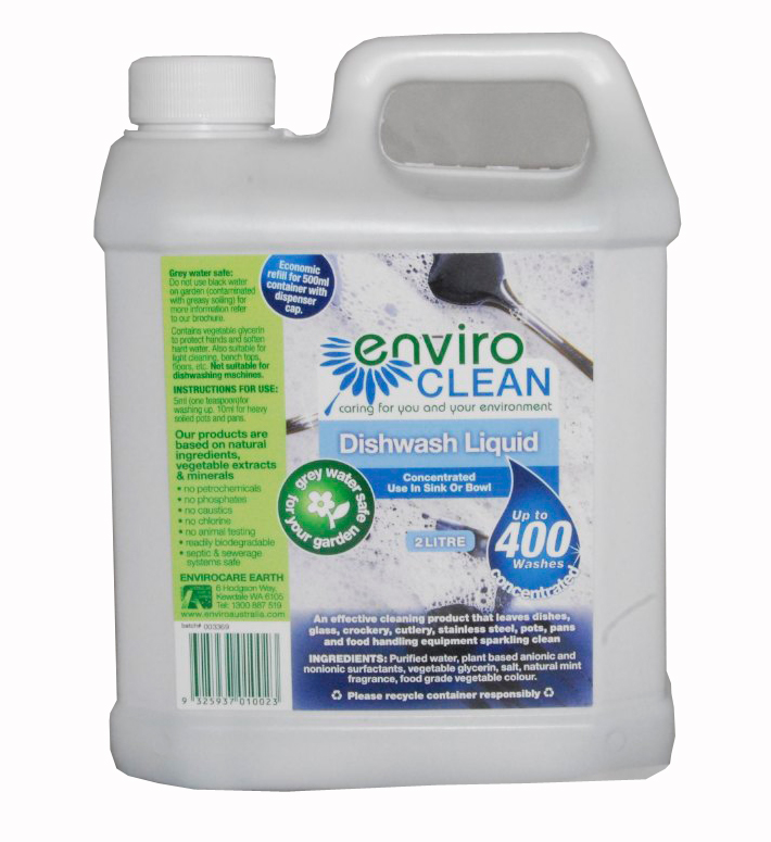 Enviro Clean Dishwash Liquid. 2 Ltre.