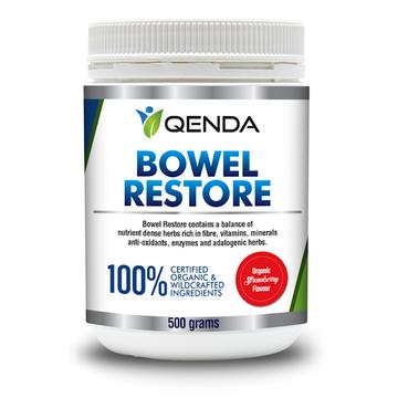 "Bowel Restore ""Strawberry Flavour"" - ""Qenda"" 100% Organic or Wildcrafted. 500gms. - Click Image to Close"