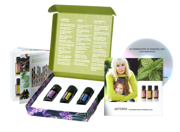 Introductory Essential Oil Kit (3 x 5ml Oils) with Audio CD.