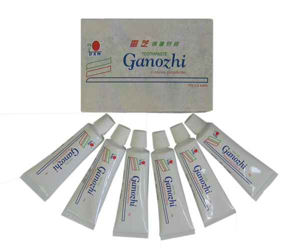 Ganozhi Toothpaste containing Ganoderma (Lingzhi). Box Mini's (6x40gm Tubes).