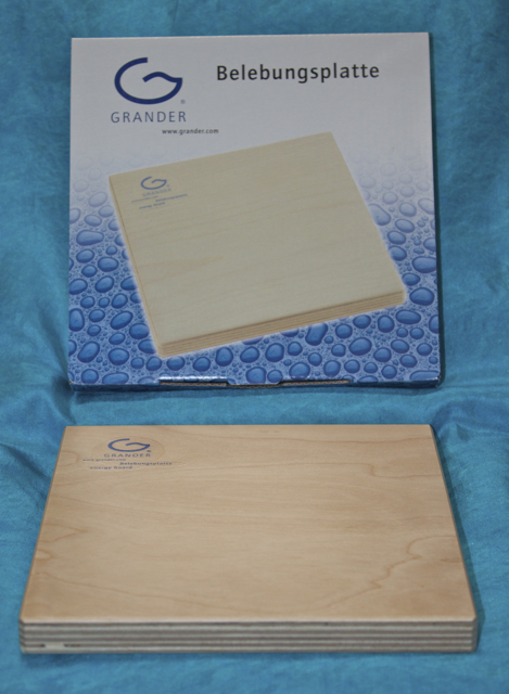 Revitalising Wooden Board 17 x 17 cm. (Suitable for food & drink energising).