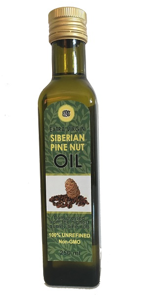 Pine Nut Oil, Extra Virgin - Siberian (Cold Pressed). 250ml.