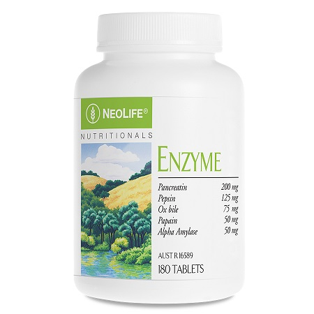 Enzymes. 180 Tablets.