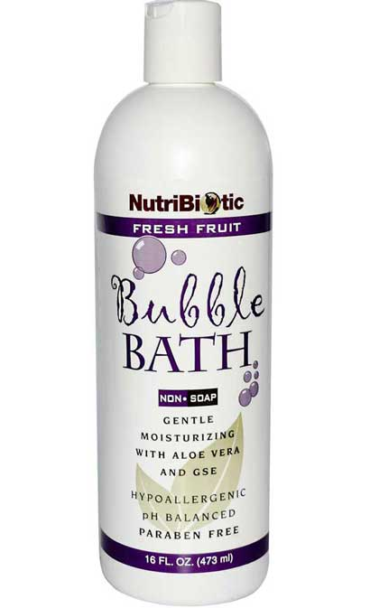 Bubble Bath. Contains Aloe Vera & GSE. 473ml.