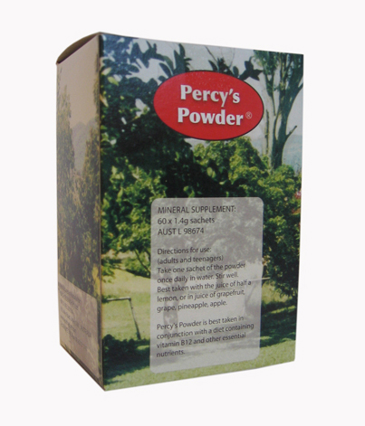 Percy's Powder 60 x 1.4g Sachets.
