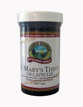 Nature's Sunshine St. Mary's Thistle. 550mg.
