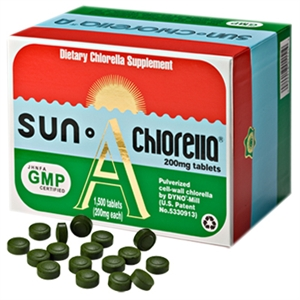Sun Chlorella 'A'. 1500 Tablets.