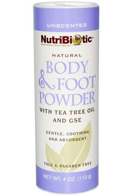 Body & Foot Powder. Contains Tea Tree Oil & GSE. 113gm.