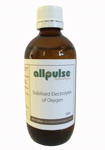 Stabilised Electrolytes of Oxygen. 200ml.