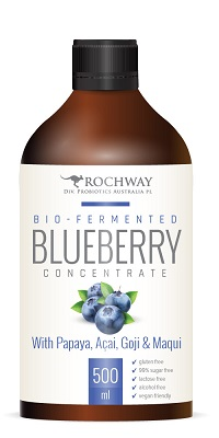 Probiotic Punch. Organic. Blueberry, Papaya, Goji & Magui. 500ml.