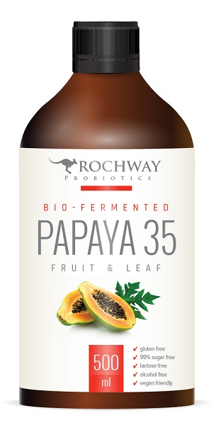 Papaya 35 Multiply Plus. Paw Paw Fruit & Leaf Probiotic. 500ml.