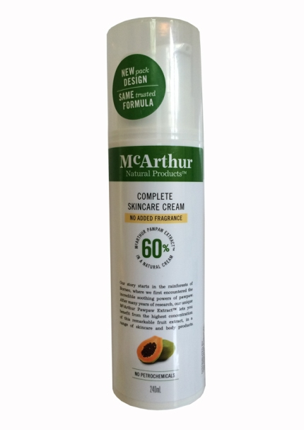 McArthurs Complete Skincare Lotion Pump. Fragrance Free. 240ml.